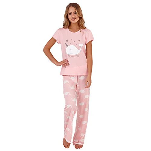 separation shoes 66efc 0037f Loungeable Damen Pyjama Sets oder Einteiler Pink Narwal ...