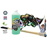 Dr Zigs Giant Bubbles Original Kiddie Starter Kit. Set of Short Wooden Wands With Giant Bubble Rope. 1 Litre Giant Bubble Solution. Fun Outdoor Garden Toy. Ages 3+. Educational Game Activity. Made in UK