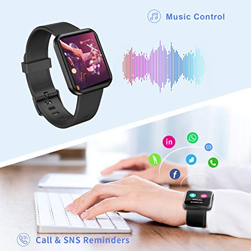 Smart Watch Fitness Tracker with Blood Oxygen, Blood Pressure, Heart Rate Monitor,IP68 Waterproof Watch Pedometer Stopwatch,Smart Bracelet for Men Women for Android iOS