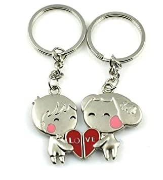 Love Heart Couples Keyrings  Amazon.co.uk  Toys   Games ecea7722ae36