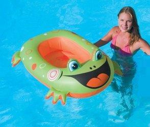 Barco hinchable rana verde Animales para piscina: Amazon.es ...