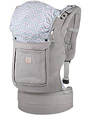 GAGAKU Ergonomique Avant et Arrière Respirant Porte-bébé avec Poches 3 Positions de Transport