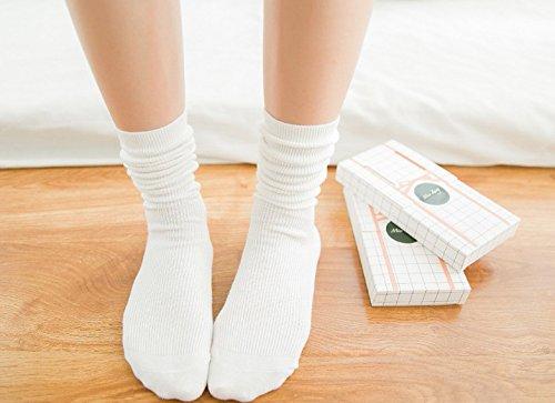 Generic Three pairs of dress Ms. [] Korean Pure Beautiful in tube socks Japanese piles of socks cotton stockings thin section School
