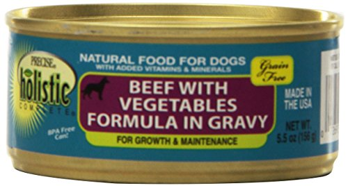Precise 726506 24-Pack Holistic Complete Grain Free Beef Food for Pets, 5.5-Ounce