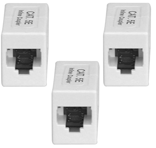 Your Cable Store Inline Ethernet CAT 5e / RJ45 Coupler / Extender 3 Pack