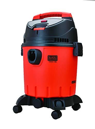 Black + Decker WDBD20 20-Litre Vacuum Cleaner (Red/Grey)