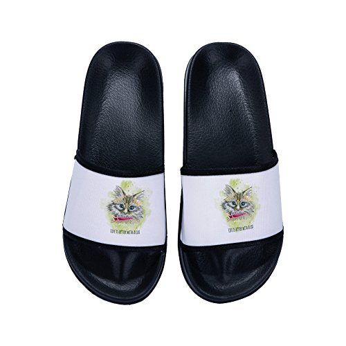Slip Casual Indoor Slide Athletic Slides Outdoor Sport on Slippers Sandals D Cute Irma00Eve d6tWqnt