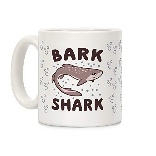 - LookHUMAN Bark Shark - Dogfish White 11 Ounce Ceramic Coffee Mug