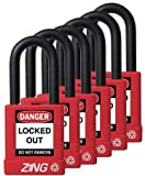Lockout Padlock, KA, Red, 1-3/4''H, PK6