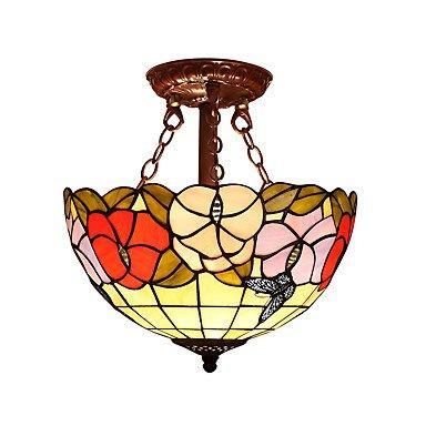 lpan mariposa Farol con 2 luces para Tiffany mitad - Lámpara ...