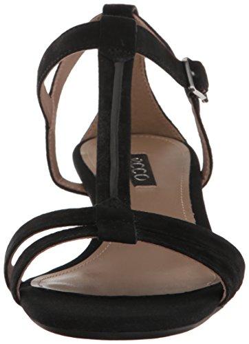 Ecco Womens Womens Rivas 45 T-Strap Wedge Sandal Black