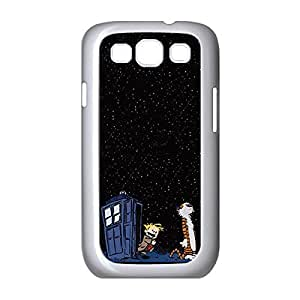Cool Calvin and Hobbes Environmental Lightweight Hard Printed case cover for Samsung Galaxy S3 I9300 -White031301
