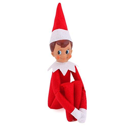[EEPIKE Christmas Novelty Elf Plush Dolls (red boy)] (Elf On Shelf Costumes)