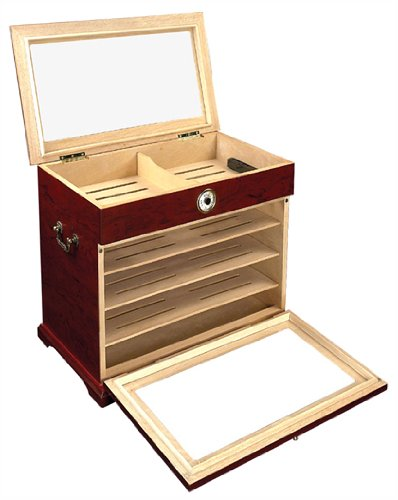 400 ct Cigar Humidor Cabinet End Table Display Case