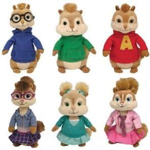 Ty Alvin Et Les Chipmunks Ensemble De 6 Alvin Simon Theodore Brittany Eleanor Jeanette Amazon Fr Jeux Et Jouets