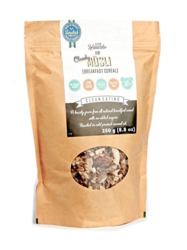 KZ Clean Eating - Swedish Breakfast Cereal - Keto - Low Carb Paleo - 250g (8.8oz) - Gluten free - No added sugar...
