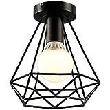 KOONTING Retro Vintage Industrial Lámpara de techo de interior de metal , para pasillo, pasillo, porche, dormitorio, etc( Shape :C)