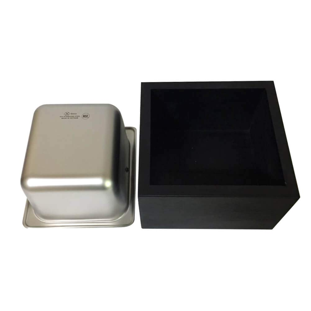 Serendipity Wood Coffee Knock Box with Stainless Steel Canister (Small) by Serendipity (Image #5)
