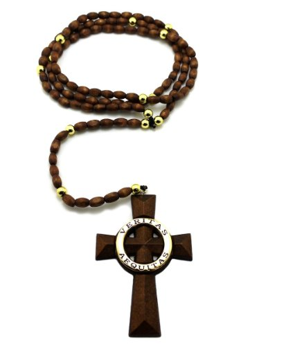 Saints Cross Wooden Rosary 5mm&39