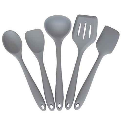 Küchenhelfer-Set / 5-teiliges Küchenbesteck-Set Silikon/Nylon