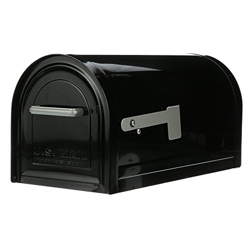 (Gibraltar Mailboxes Reliant Large Capacity Galvanized Steel, Post-Mount Mailbox, MB981B01 Black)