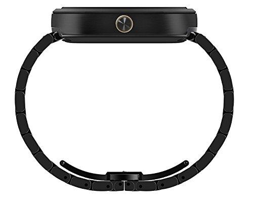 Motorola Moto 360 Smartwatch w/ 23mm Metal Band - Black (Certified Refurbished) by Motorola (Image #4)