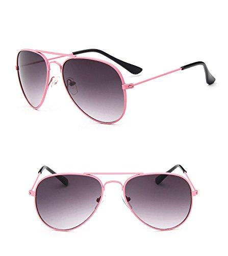 AMAZZANG-Retro Fashion Children Kids Boys Girls Students Aviator Sunglasses Eyewear UV400 - Sunglasses Darren Pink Buy Criss