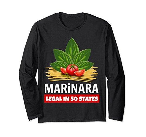 Marinara Legal in 50 States Basil Tomatoes Spaghetti Unisex Long-Sleeve T-Shirt