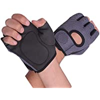 Bluee™ Weight Lifting Gloves with Padded & Anti-Slip Silica Gel Grip & Adjustable Fasteners, Gym Gloves for Yoga, Workout, Sports, Fitness, Cross Training (Men & Women)