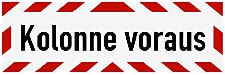 lieferbar in DREI Gr/ö/ßen Schild magnetisch LOHOFOL Magnetschild Unfallfolgedienst 45 x 15 cm