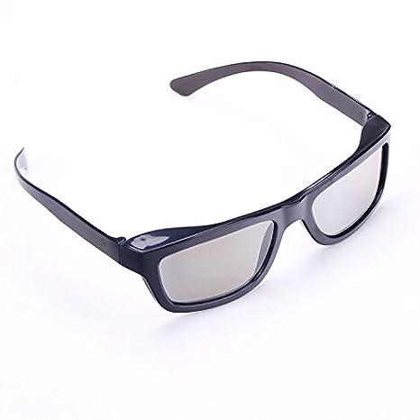 Gafas 3d pasivas, polarizador de tecnología 3d, Negro: Amazon.es ...