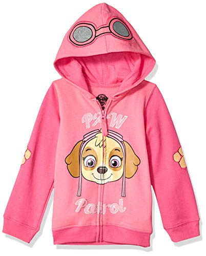 (Nickelodeon Paw Patrol Little Girls' Skye Toddler Hoodie, Hot Pink/Heather Pink, 4T)