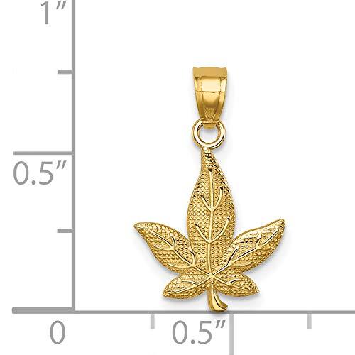 14K Leaf Pendant