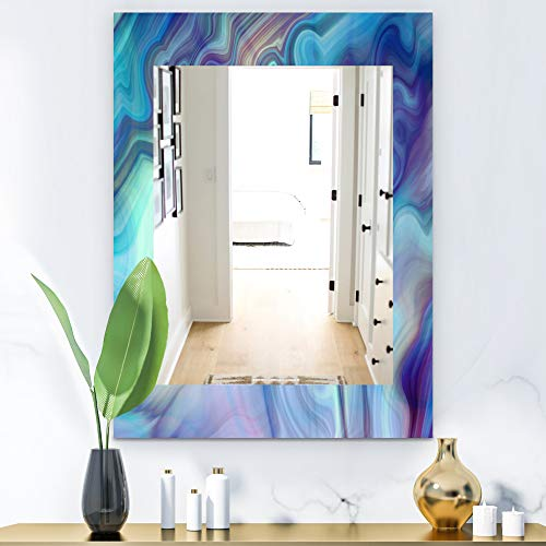 Designart 'Marbled Geode 8' Modern Wall Mirror Vanity Mirror, Framed Mirrors, Large -