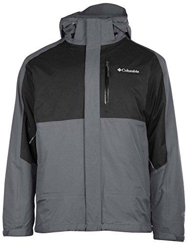 Columbia Men's Rural Mountain II Interchange Jacket-Gray/Black Colorblock-Medium