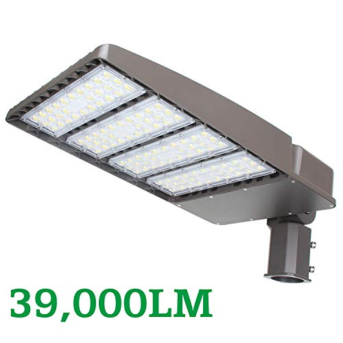 (LED Parking Lot Lights 300W, LED Shoebox Pole Light Fixture 39000Lm 1000W HID HPS Replacement Commercial Outdoor Street Area Lighting for Stadium Roadways Garage 5700K AC100-277V IP65 UL DLC Listed)