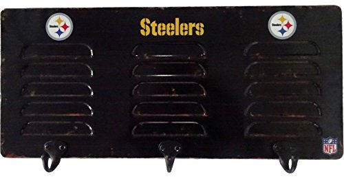 Imperial Officially Licensed NFL Merchandise: Wall Mounted Metal Locker Coat Rack, Pittsburgh - Locker Pittsburgh Room Licensed Steelers