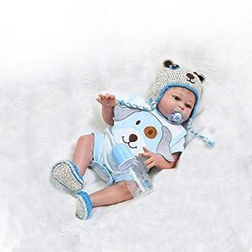 50 cm 20 Pulgadas Cuerpo Completo de Silicona Realista Baby Doll Realista Recién Nacido Reborn Baby Doll Regalo de Cumpleaños Niño Juguete Magnético ...