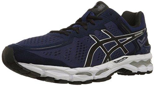 Asics Gel-Kayano 22del hombre de zapatillas de atletismo Mediterranean/Black/Silver