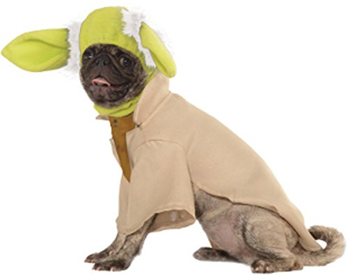 [Rubies Costume Star Wars Collection Pet Costume, Small, Yoda] (Dog Ears Costumes)