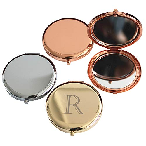 (Rose Gold Compact Mirror Travel Pocket Makeup Mirror for Purse)