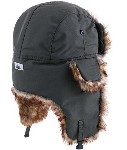 Trapper Hat - Winter Trooper Aviator Earflap Eskimo Hat - Fits Men & Women