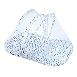 Classic Mosquito Net Foldable Baby mosuqito net for Safe & Easy Use (70 X 47 X 40 cm, Blue)