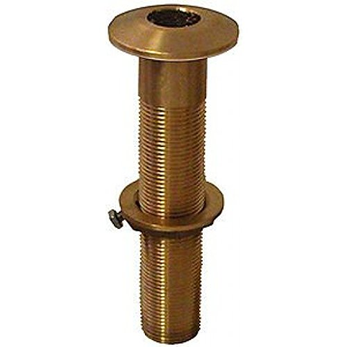 ''Gross Mechanical Labs (Groco) Bronze Extra Long Thru-Hull Fitting - 1'''' Xtra-Long T-Hull With Nut''