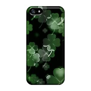Iphone 5/5s Case Cover - Slim Fit Tpu Protector Shock Absorbent Case (irish Clovers)
