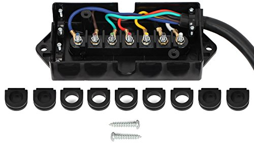 Lavolta 7-Way Trailer Connector Plug Cord - 7-Pin Wiring - Import It on electronic circuit components, torque converter components, speaker components, wire alligator clips electrical,