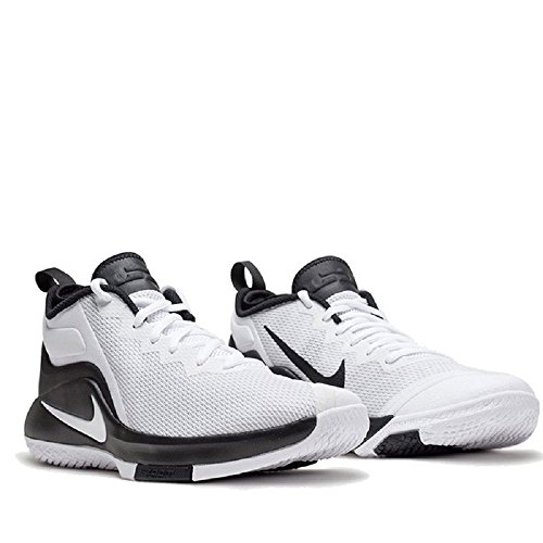 Nike Lebron Vitne Ii Lebron James Menn Basketball Sko Svart-hvitt