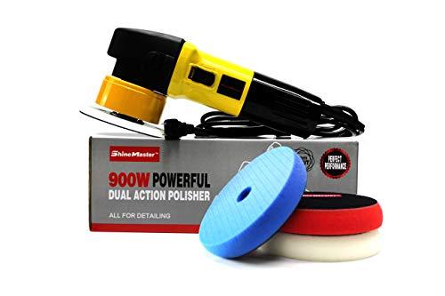 ShineMaster Maxshine M8S Yellow Dual Action/DA Polisher with Foam Pads Kit by ShineMaster (Image #1)