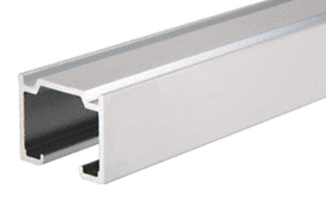 CRL Satin Anodized Enclosed Double Overhead Track - 12 ft long by C.R. Laurence