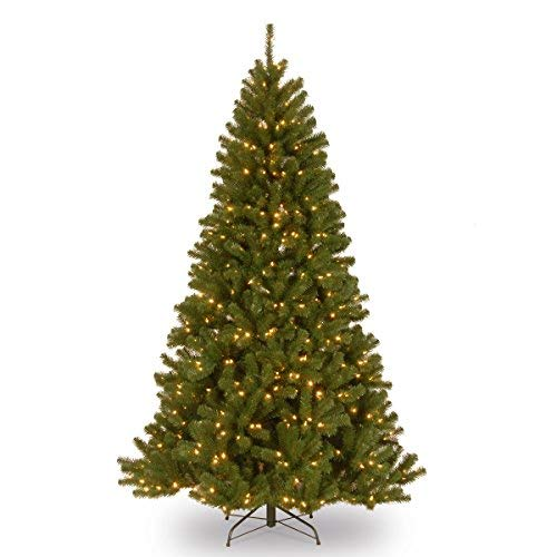 National Tree 7 Foot North Valley Spruce Tree with 500 Clear Lights, Hinged (NRV7-300-70), 7' ()